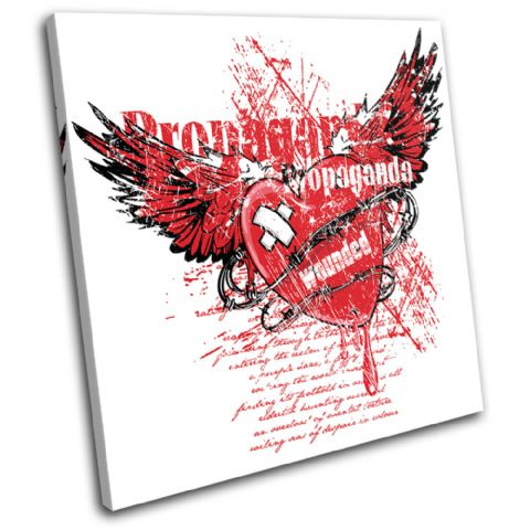 Winged Heart Grunge Love - 13-1869(00B)-SG11-LO
